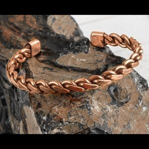 Twist Cuffed Copper Bracelet MEN WOMEN